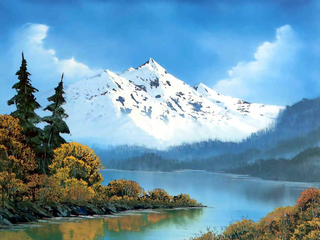 Bob Ross painting fine art